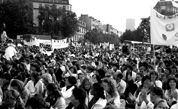 greve des infirmiere en 1988